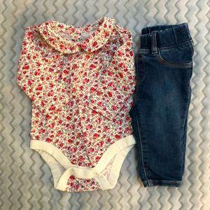 3/$35 Baby Gap 3-6M Bodysuit and Jeggings Bundle